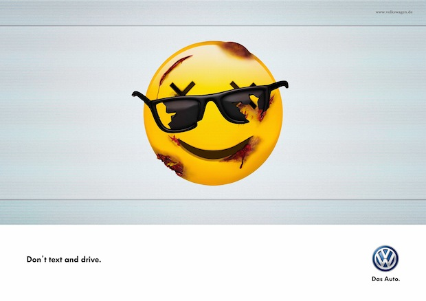 don't text and drive gafas de sol