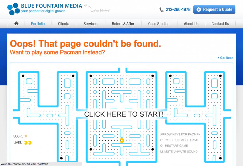 Las páginas 404 más originales